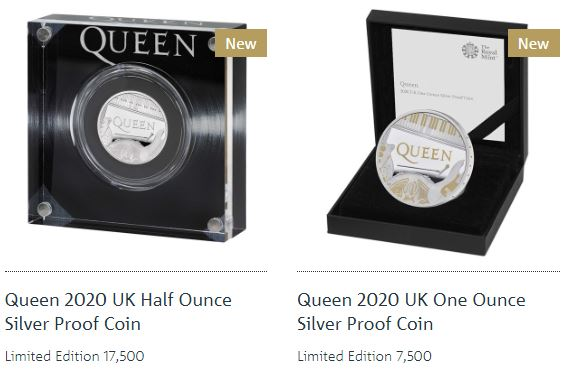 queen silver proof coins