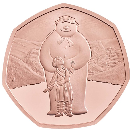 2019 the snowman 50p gold coin