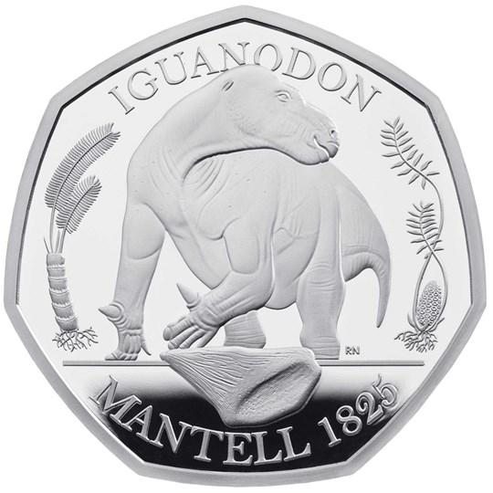 Iguanodon 50 Silver Coin