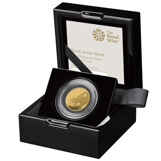 bond james bond quarter ounce gold proof