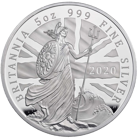 britannia 2020 five ounce silver proof coin 1