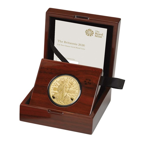 The Britannia 2020 Two Ounce Gold Proof Coin