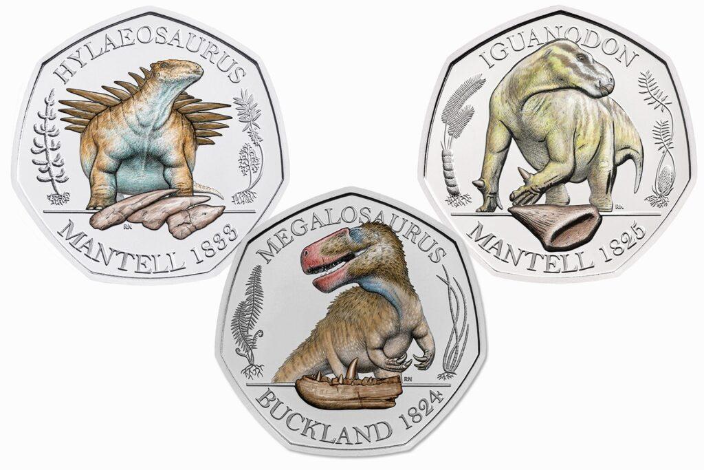 dinosaur 50p coins