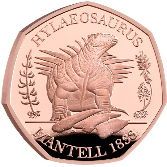 Hylaeosaurus 50p Gold Proof Coin