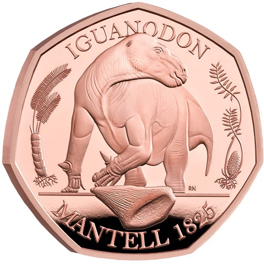 Iguanodon 50p Gold Proof Coin