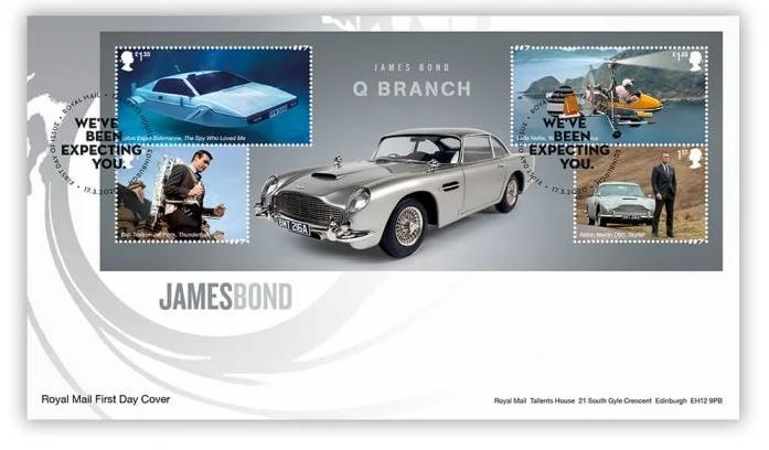 james bond first day cover 2020