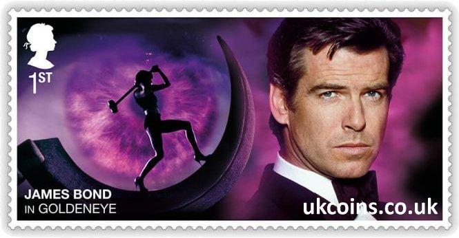James Bond in Goldeneye Stamp Pierce Brosnan 2020
