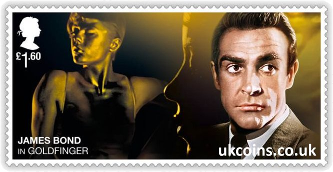 James Bond in Goldfinger Stamp 2020 Sean Connery