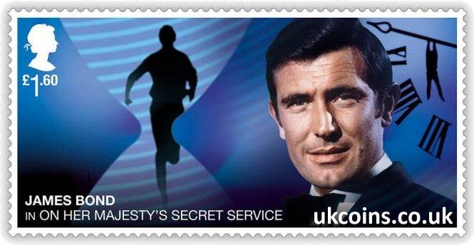 James Bond in On Her Majestys Secret Service Stamp 2020 George Lazenby