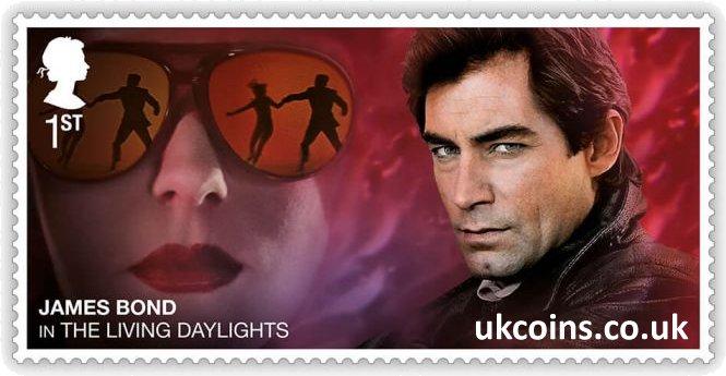 James Bond in The Living Daylights Stamp 2020 Timothy Dalton