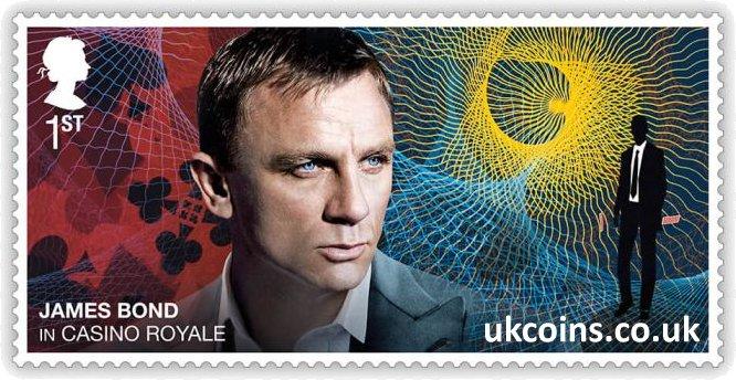 James Bond in Casino Royale Stamp 2020 Daniel Craig