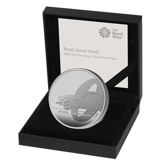 Bond James Bond One Ounce Silver Proof Coin