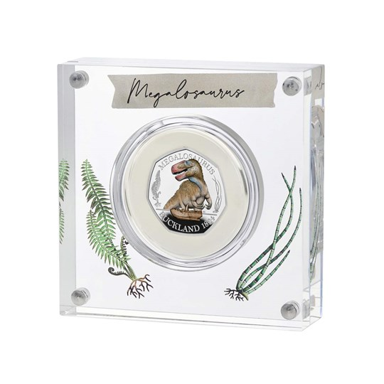 megalosaurus 50p silver proof coin