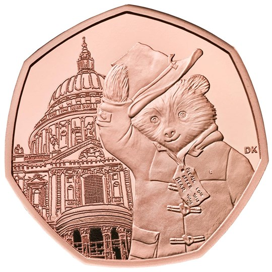 Paddington at St Paul's 50p Gold Proof Coin