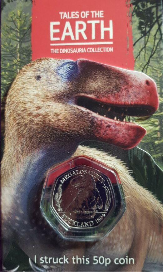 Strike Your Own Megalosaurus 50p coin