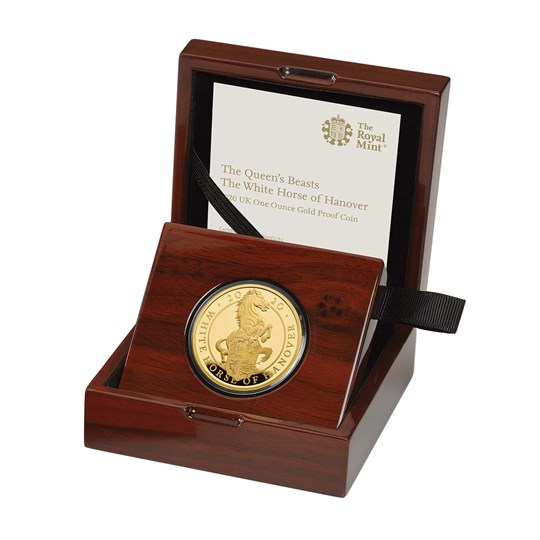 The White Horse of Hanover 2020 UK One Ounce Gold Proof Coin