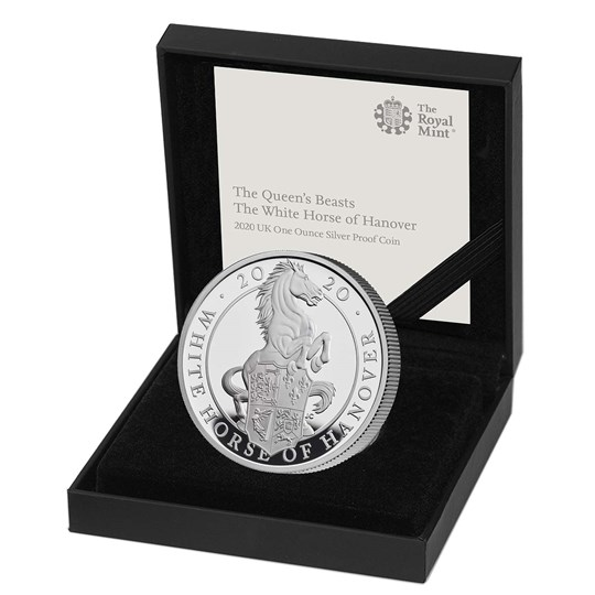 White Horse of Hanover 2020 UK One Ounce Silver Proof Coin