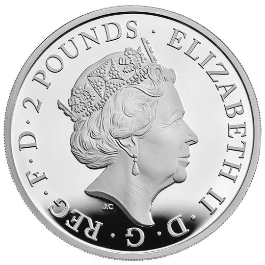 The White Horse of Hanover Silver Proof Coin Obverse