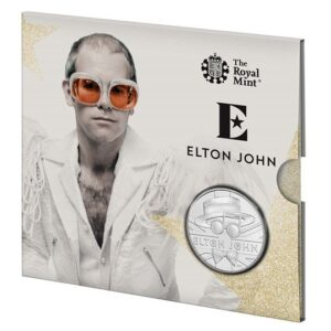 elton john brilliant uncirculated coin rocket man