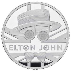 elton john two ounce silver proof coin