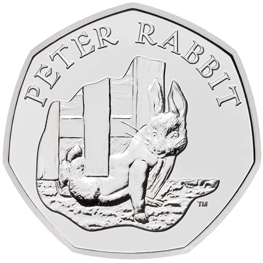 Peter Rabbit 50p 2020