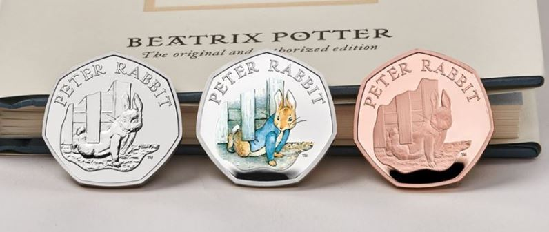 Peter Rabbit 50p coins 2020