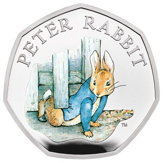 Peter Rabbit 50p 2020 Silver Coin