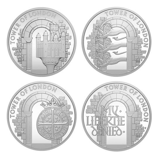 Tower of London Silver Proof Coins