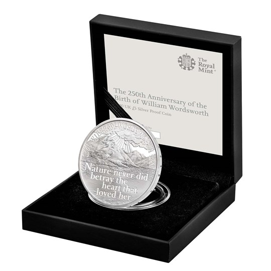 William Wordsworth 2020 Silver Proof Coin