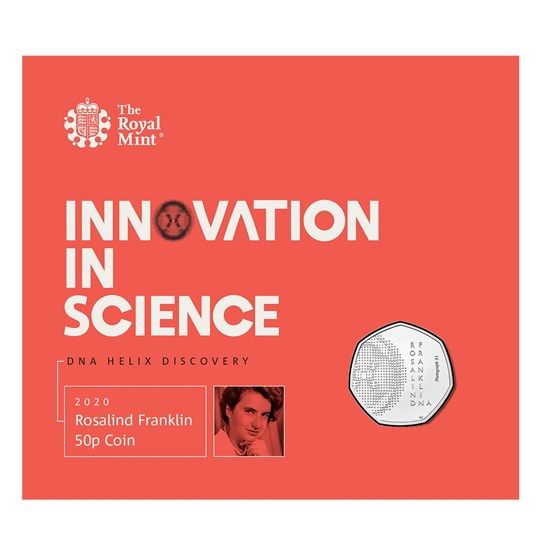 rosalind franklin 50p brilliant uncirculated coin