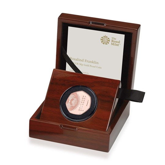 Rosalind Franklin 50p Gold Proof Coin