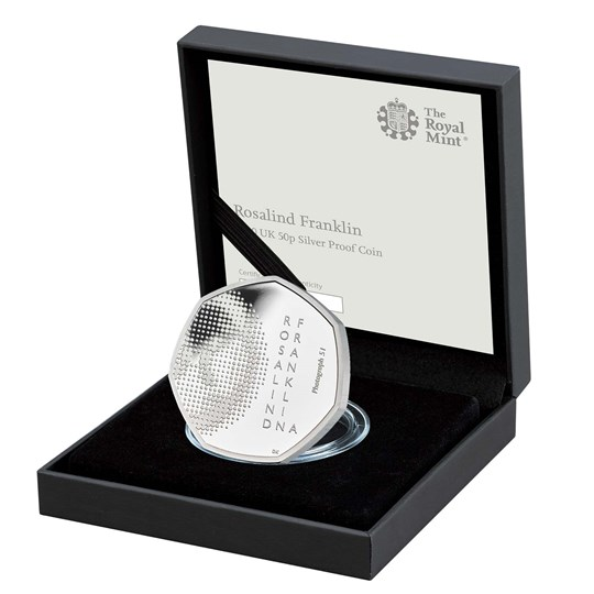 rosalind franklin 50p silver proof coin