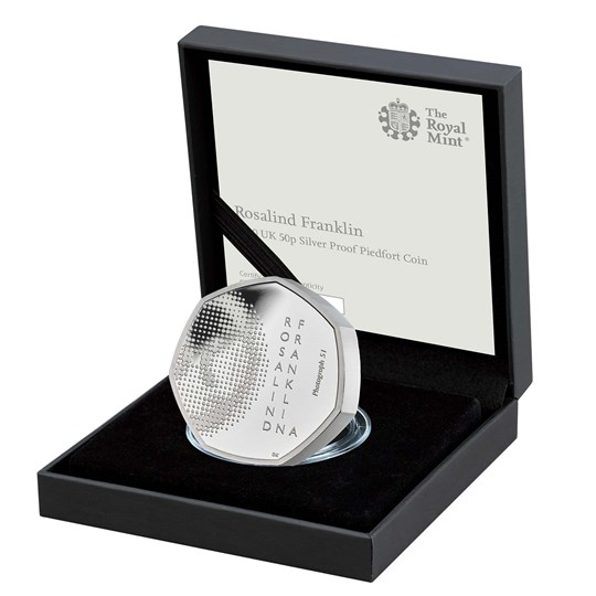 Rosalind Franklin 50p silver proof piedfort coin