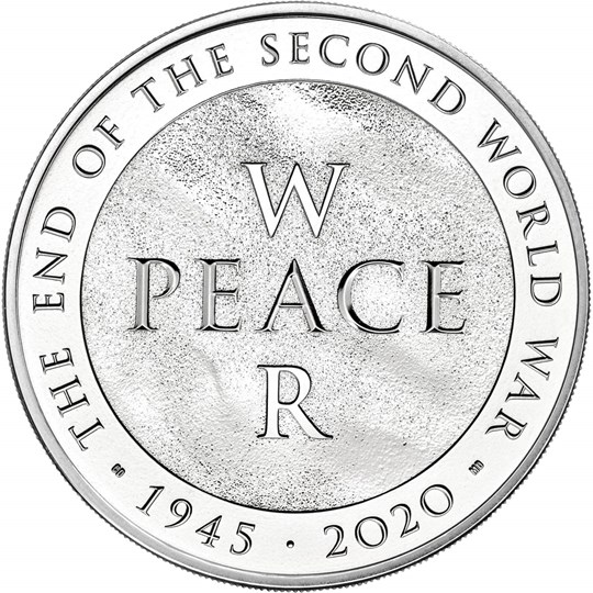 BUNC End of the Second World War Coin