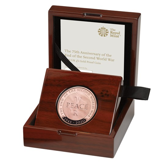End of the Second World War 2020 £5 Gold Proof Coin
