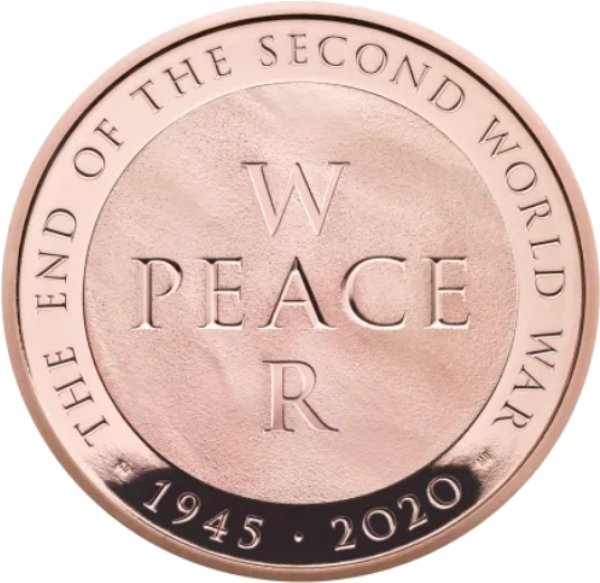 end of the second world war gold coin
