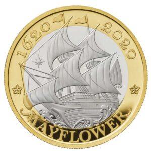 Mayflower £2 Coin