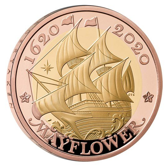 Mayflower Gold Proof coin