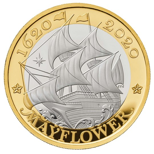 Mayflower Silver Proof Coin