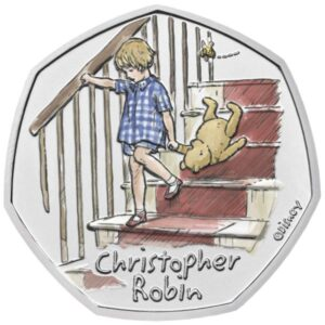 Christopher Robin 50p Brilliant Uncirculated Colour Coin