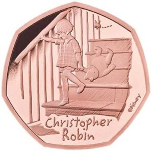 Christopher Robin 50p Gold Proof Coin
