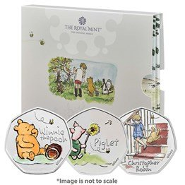Winnie the Pooh and Friends 2020 UK Brilliant Uncirculated Colour Three-Coin Series