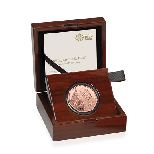 paddington at st pauls 50p gold proof coin