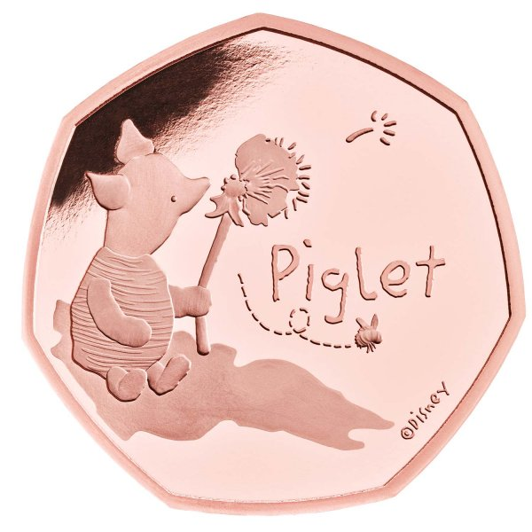 Piglet 50p Gold Proof Coin
