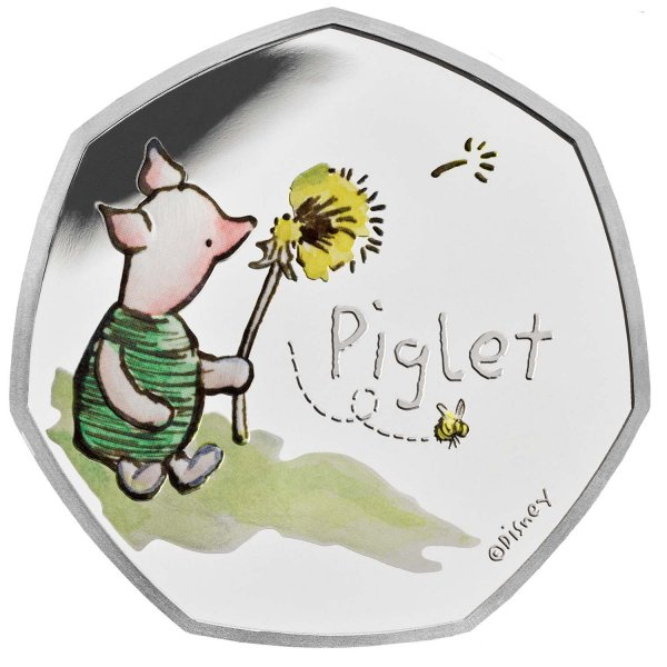Piglet 50p Silver Proof Coin