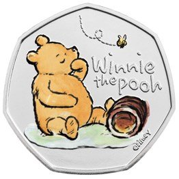 Winnie the Pooh 2020 UK 50p Brilliant Uncirculated Colour Coin