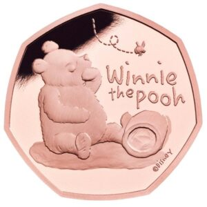 Winnie the Pooh 50p Gold Proof Coin