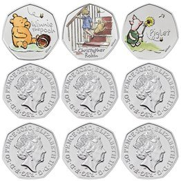 Winnie the Pooh and Friends 2020 UK Brilliant Uncirculated Colour Nine-Coin Series