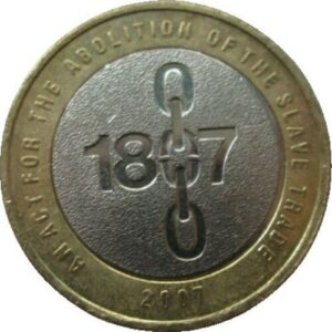 Abolition of the Slave Trade £2 circulated