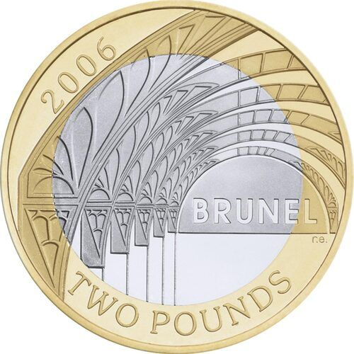 Brunel - Achievements £2 Coins